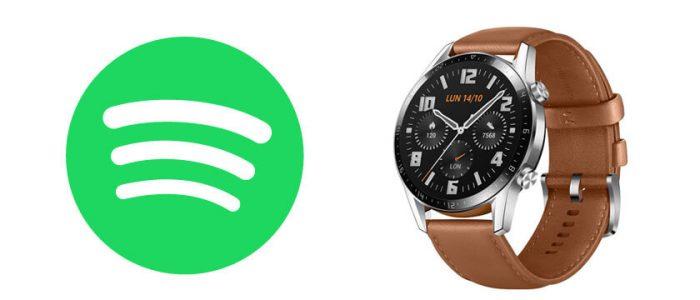 como controlar spotify en huawei watch gt 2