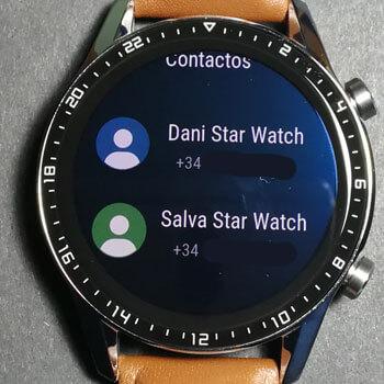 contactos huawei watch gt 2