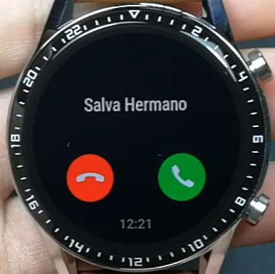 llamada entrante huawei watch gt 2
